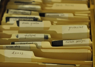 file folders, photo by Caren Parmelee