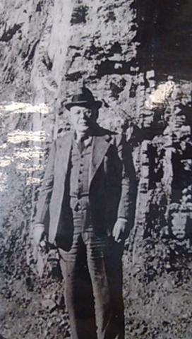 Cyrus Fisher Tolman near the Claremont Formations in the hills of Berkely