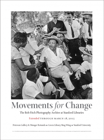 Movements for Change exhibit poster