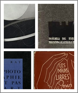 Four Works by Man Ray exhibition poster - Design by Anna Fishaut/SUL