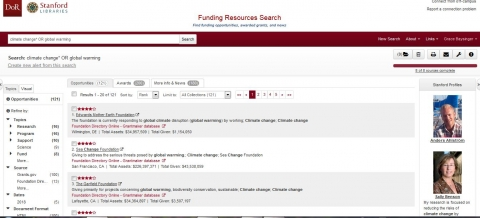 Funding Resources Search