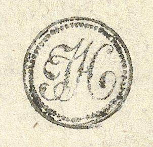 Detail showing Haydn's stamp