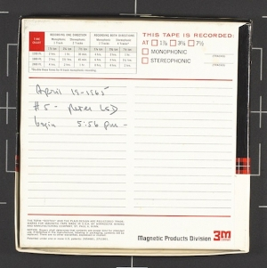 John C. Lilly open reel audio tape