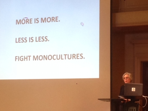 More is More. Less is Less. Avoid Monocultures.