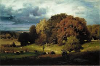 Autumn oaks, George Inness, ca. 1878