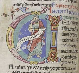 The beginning of Isaiah (CCCC MS 3, f. 173v)