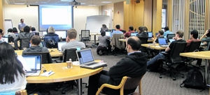 Software Carpentry Boot Camp, image by Amy Hodge