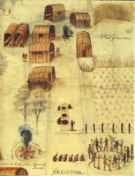 Village of the Secotan Indians in North Carolina, John White, 1585