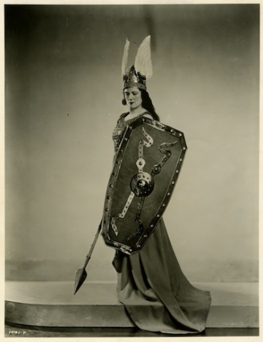 Marjorie Lawrence as Brunnhilde, in an undated publicity photo