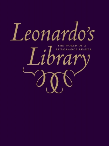 "image of cover of :Leonardo's Library"" typographic design"