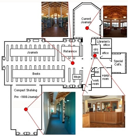 Miller Library Floor Plan with Photos