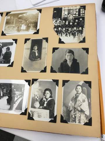 Page from Kojima family papers photo album
