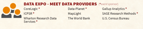 Gear Up for Social Science Data Extravaganza Fall 2016, List of Participating Data Providers