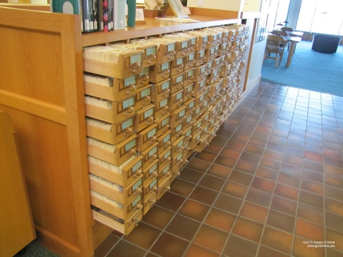 Miller Library card catalog
