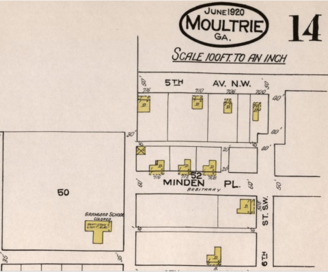 Moultrie, Ga., Sheet 14, Sanborn Map Company, 1920