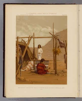 Aboriginal life, Navajo country, Old Fort Defiance, Ariz., in Report upon United States geographical surveys west of the one hundredth meridian, Geo. M. Wheeler, 1889