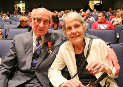 Dr. Edward Anders, Professor Emeritus of the University of Chicago and a member of the National Academy of Sciences, together with his wife Joan