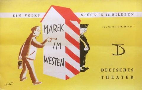 Theater program for the play Marek im Westen