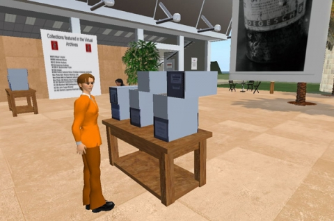 Virtual archives in Second Life