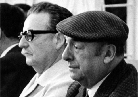Chile's president Salvador Allende and Nobel-laurate Pablo Neruda.