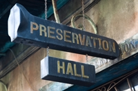 Preservation Hall sign, image by Flickr user Miikka Skaffari
