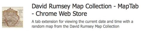David Rumsey Map Collection, MapTab Chrome App