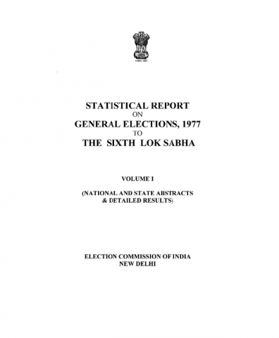 Election Commission of India - General Election, 1977
