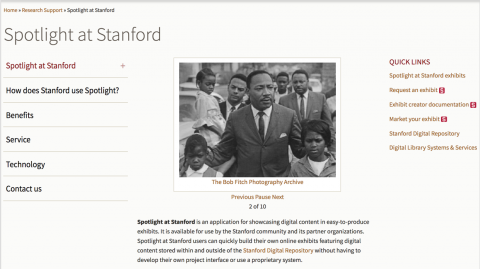Spotlight at Stanford microsite