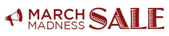 SUP March Madness book sale logo