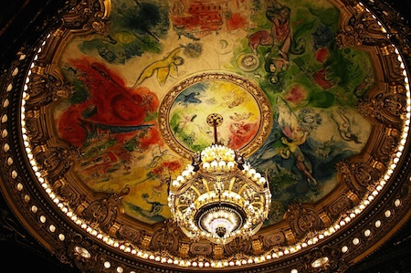Chagall painting at the Paris Opera (detail)