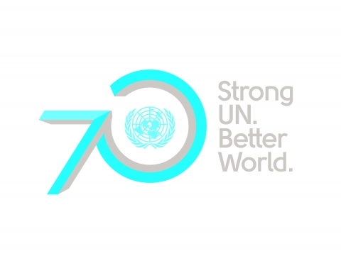 The official logo for the 70th Anniversary of the United Nations.