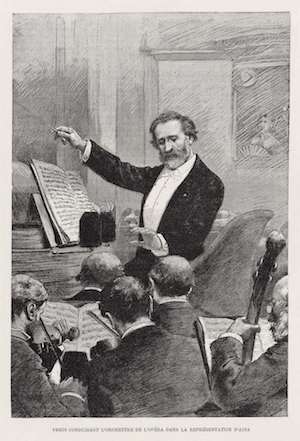 Verdi conducts Aida in Paris, 1880