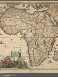 """A new and most exact map of Africa described by N.I. Vischer and don into English; Enlarged and Corrected according to J. Blaeu and Others, With the Habits of ye people, and ye manner of ye Cheife sitties ye like never before."""