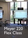 View of Meyer 220 Flex Class classroom.
