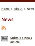 Screen shot of the SUL News page