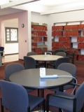 Swain Library's back reading room now, after remodel.