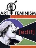 Art_+_Feminism Wikipedia edit-a-ton logo