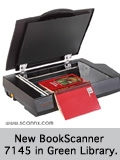 New BookScanner 7145 in Green Library.