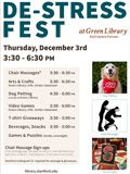 De-Stress Fest, an undergraduate event sponsored by the Stanford Libraries on Thursday, December 3, 2015.