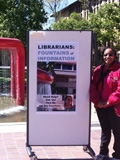 Green Library's Information Center's, Fountain of Information service. Reference Librarian Felicia Smith.