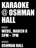Karaoke at Oshman Hall flyer image