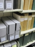 old vs. new Miller Library reprint boxes