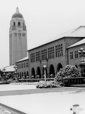 Snow on campus, 1962