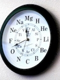 Chemistry clock above Swain reference desk