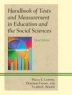 Cover image of Handbook of tests and measurements in education and the social sciences