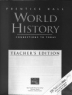 Cover image of Prentice Hall world history