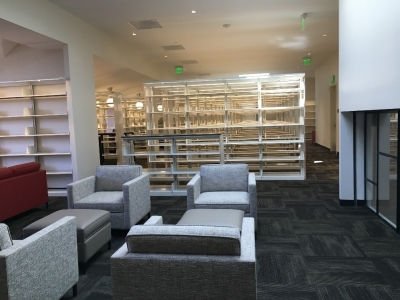 Book shelving on 4th floor
