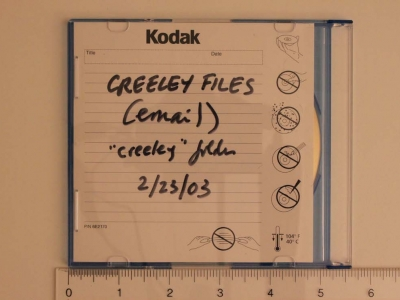 CD-ROM from the Robert Creeley Collection