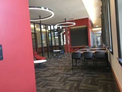 Collaborative space on 2nd floor - interior view