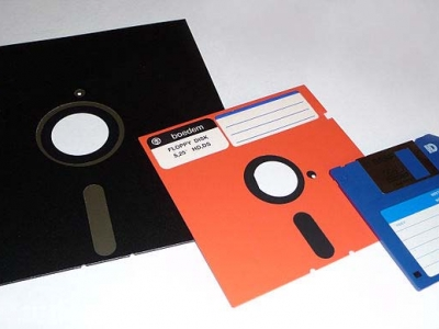 Assorted types of floppy disks